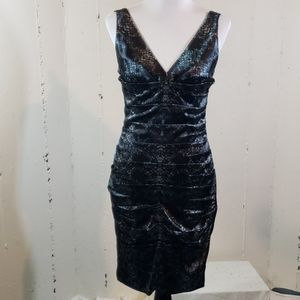Calvin Klein 4 blk/gray snake skin print dress